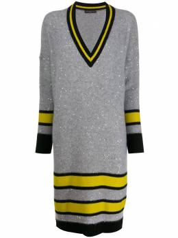 Fabiana Filippi трикотажное платье с пайетками ABD129B9530000B121