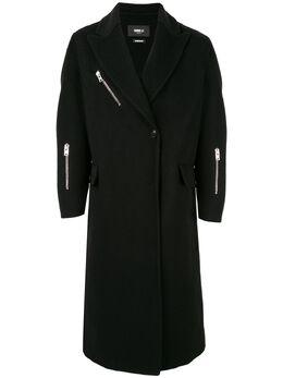 Yang Li однобортное пальто на молнии HF818299