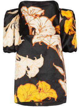 Johanna Ortiz платье мини Cosmic Origin с цветочным принтом V1830OG