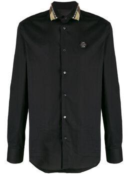 Philipp Plein рубашка с заклепками на воротнике S20CMRP1203PTE003N