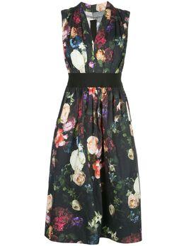 Adam Lippes платье A-силуэта с цветочным принтом R20728PP