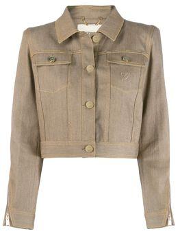 Fendi укороченная джинсовая куртка Karligraphy FLF583A8GX