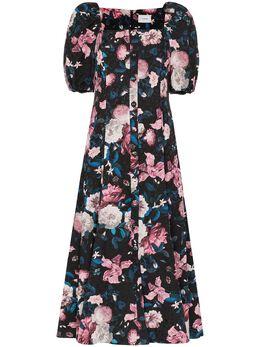 Erdem платье Mariona с жаккардовым цветочным узором PS2021320DBCJ