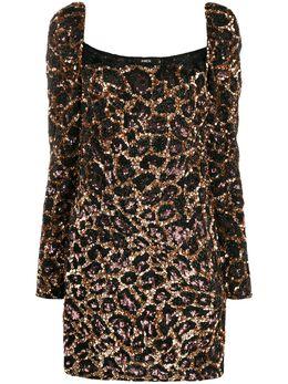 Amen коктейльное платье с леопардовым узором ACW19414
