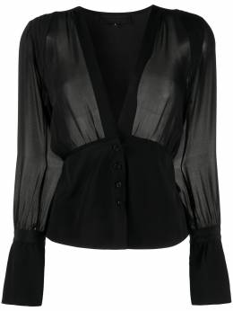 Nili Lotan блузка со сборками 10516W30