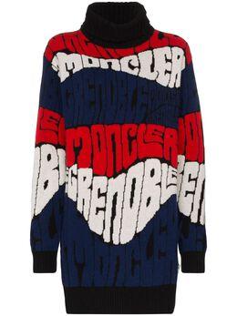 Moncler Grenoble свитер с логотипом вязки интарсия 9252700A9158