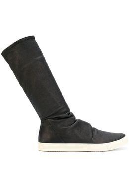 Rick Owens спортивные ботинки с носочной вставкой RU17F8869LNS