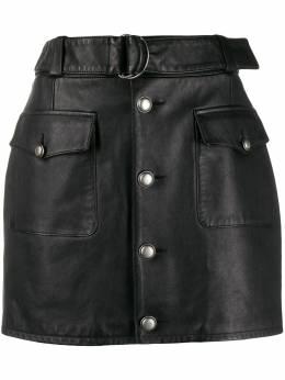 Saint Laurent мини-юбка с D-образной пряжкой 605738YC2UE