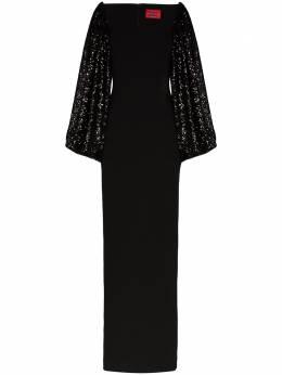 Solace London платье макси Gilda с пайетками OS25050