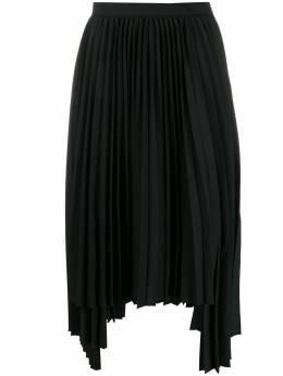 Juun.J плиссированная юбка асимметричного кроя JA9927W055