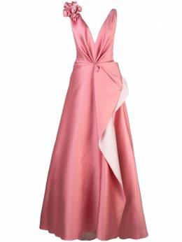 Marchesa вечернее платье с цветочной аппликацией M27802