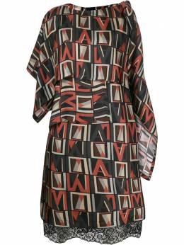 Antonio Marras платье асимметричного кроя с принтом LB5054TED47W0