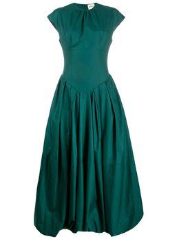 Khaite длинное платье со складками 5094108