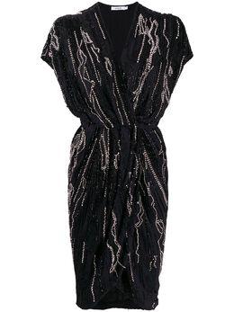 Amen декорированное платье с запахом AMW19414