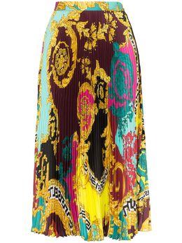 Versace плиссированная юбка с принтом Baroque A79719A231123