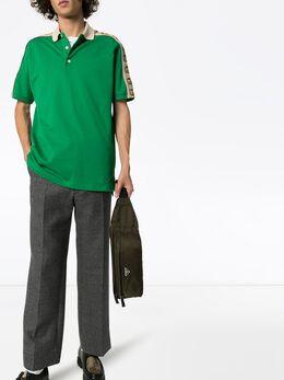 Gucci рубашка-поло с отделкой в полоску GG 598949XJB0Q
