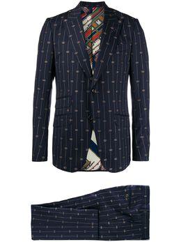 Gucci костюм с вышитым логотипом Interlocking G 581379ZABJ0