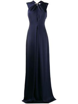 Victoria Beckham длинное платье с драпировкой 1120WDR000885B