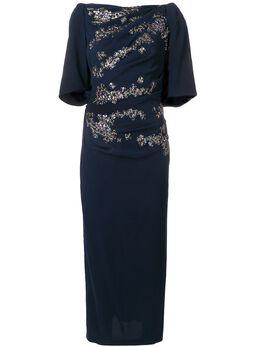 Talbot Runhof floral embellished fitted dress LOBATA21UT15
