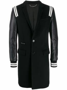 Philipp Plein однобортное пальто в полоску F19CMRA0227PTE003N