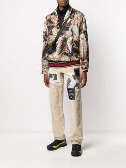 Palm Angels вельветовые брюки чинос с нашивками PMCA047F197070304788