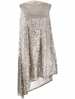 Halpern платье асимметричного кроя с пайетками A19D092