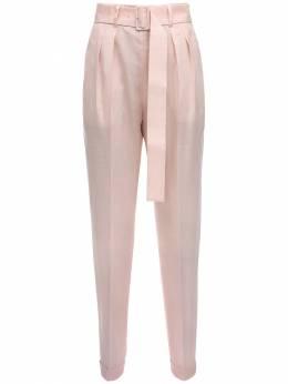 High Waist Mohair Blend Pants W/ Belt Agnona 71IWEJ006-UDA40