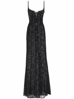 Lace Long Dress W/ Bustier Alessandra Rich 71IRKM026-OTAw0
