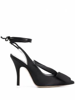 The Attico атласные туфли с завязками 201WS019V007