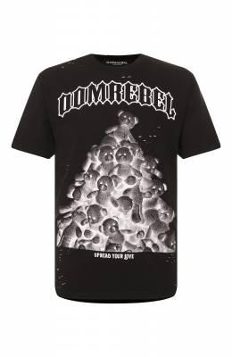 Хлопковая футболка Dom Rebel PILE/0VERSIZE T-SHIRT/H0LES