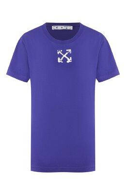 Хлопковая футболка Off-White 0WAA049S20JER0094501