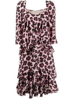La Doublej платье Sissi с леопардовым принтом DRE0108DBG001