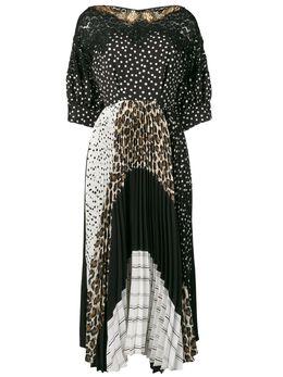 Antonio Marras платье с принтом и вставками LB5078TED02S9