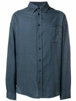 Balenciaga рубашка с деталью в виде футболки на спине 534335TBM20