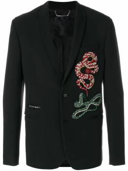Philipp Plein пиджак с декором 'Snakes' MRF0478PTE003N