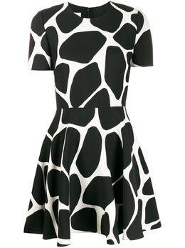 Valentino расклешенное платье мини с принтом TB3VAQ6755Y