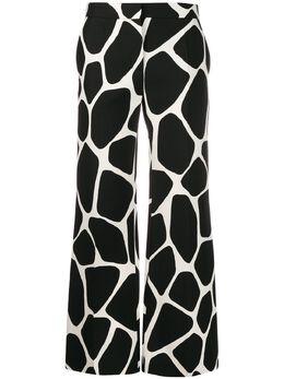 Valentino брюки палаццо с принтом TB3RB3L555Y