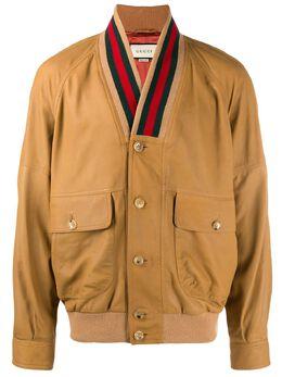 Gucci куртка с отделкой Web 567428XNAFV