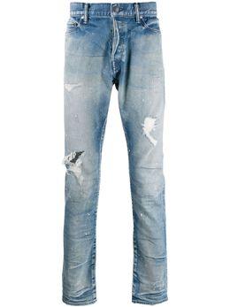 John Elliott джинсы прямого кроя с эффектом потертости G117E5049L