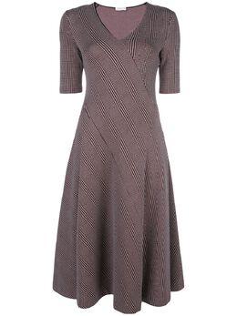 Rosetta Getty платье миди с диагональными полосками 11204O4563