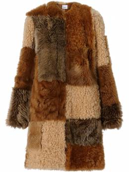 Burberry Patchwork Shearling Coat 8013685