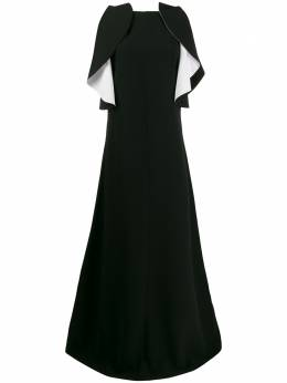 Givenchy вечернее платье с контрастными оборками BW20KT10F4
