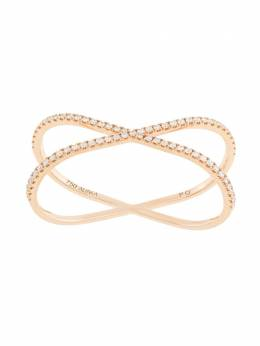 Alinka 18kt rose gold KATIA DUO diamond two-finger ring ZABD003818R25