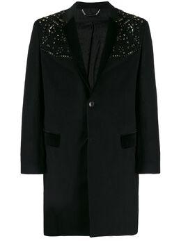 Philipp Plein однобортное пальто с заклепками A19CMRA0246PTE003N