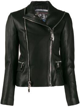 Philipp Plein байкерская куртка F19CWLB0500PLE010N