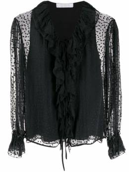 Chloe блузка с оборками в горох C19AHT69013001