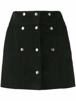 Saint Laurent мини-юбка на кнопках 572284YC2RK