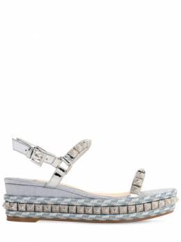 60mm Pira Ryad Glittered Sandals Christian Louboutin 71IG6N015-UTY4NA2