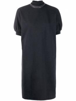 Brunello Cucinelli платье-трапеция с высоким воротником MH827ASD71CT178