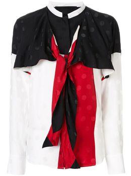 Haider Ackermann блузка в стиле колор-блок с драпировкой 1942006140016